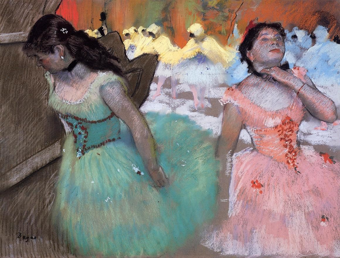 The entrance of the masked dancers, circa 1879-1882 , Edgar Degas